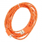 USB 2.0 to Micro USB Data Charging Nylon Cable for Amazon Kindle Fire / Paperwhite - Orange + White