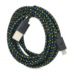 USB 2.0 to Micro USB Data Charging Nylon Cable for Amazon Kindle Fire / Paperwhite - Black + Yellow