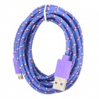 USB Male to Micro USB Male Nylon Data Charging Cable for Amazon Kindle Touch / Kindle 3 + More