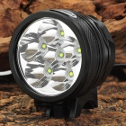 LetterFire 6 x Cree XP-G R5 800lm 3-Mode White Bicycle Light - Black (4 x 18650)