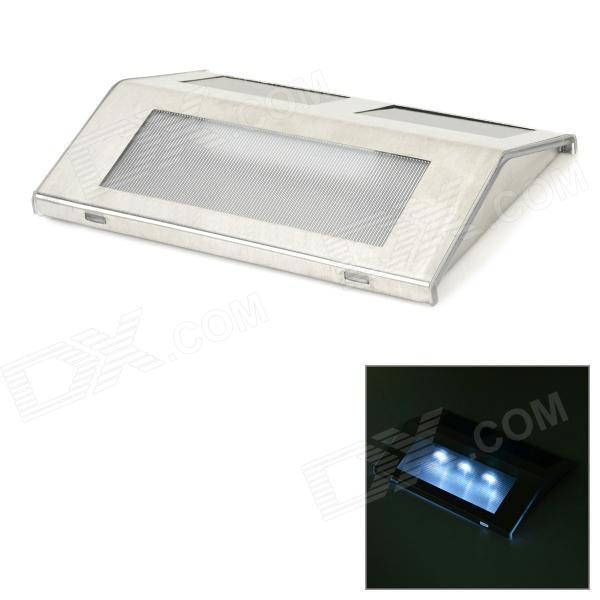 Auker YJ-2005 3-LED 9lm Solar Step Light - Silver
