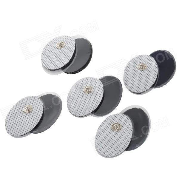 Mini Electric Massager Electrode Patches Pads - White + Black (10PCS)