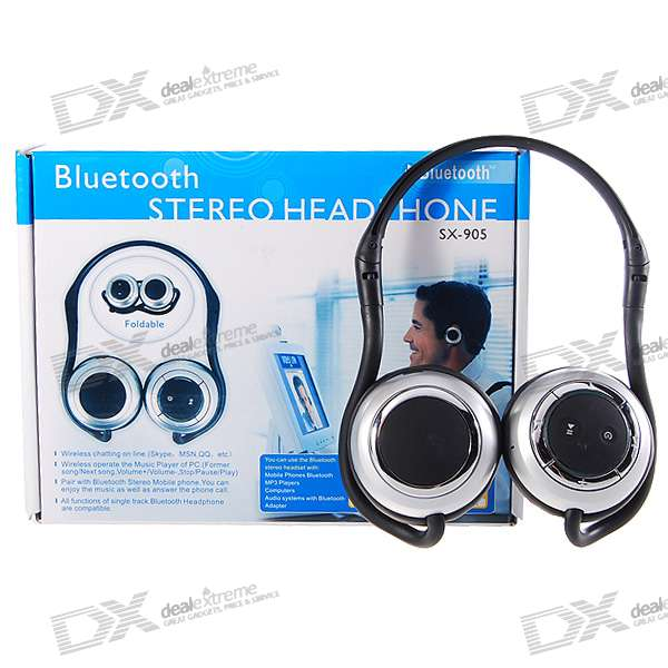 Sport Style Bluetooth Stereo Handsfree Headset (10-Hour Talk/120-Hour Standby)
