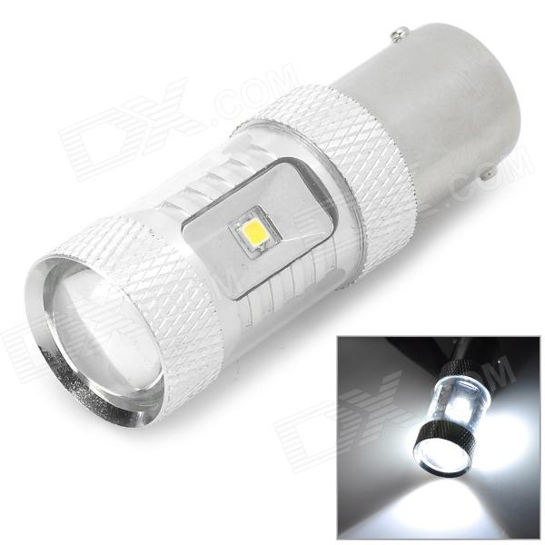 HJ HJ-1156-8W2323 1156 8W 800lm 6500K 6-SMD 2323 LED White Car Brake / Steering Light (10~30V) hj h16 8w 600lm 6500k 8 smd 2323 led white steering reversing lamp for car 12 24v 2pcs