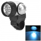 UltraFire MY-203 1W 7-LED 10lm 2-Mode White Bicycle Light - Black + Silver (3 x AAA)