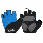 TOPCYCLING Outdoor Sports Cycling Lycra Half-Finger Gloves - Blue + Black (Pair / Size L)