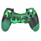 Protective Silicone Anti-Slip Case for PS4 Game Console Controller - Black + Green