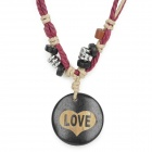 UBE UTY 0057 ''LOVE'' Pattern Pendant Necklace for Lovers - Fuchsia + White + Multi-Colored
