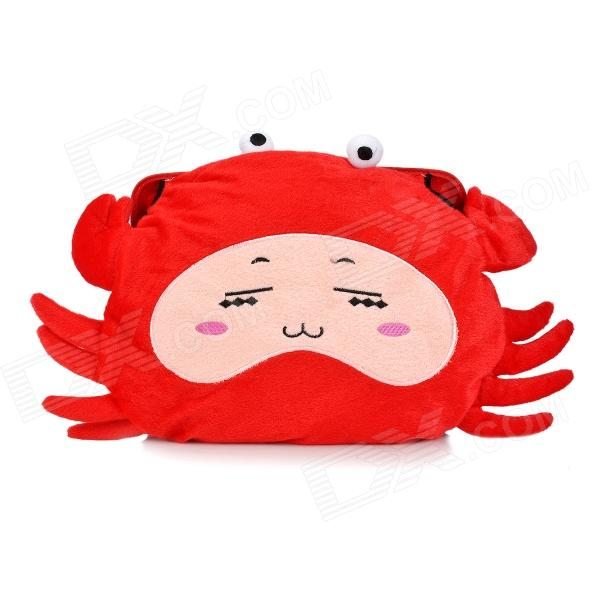 Cartoon Crab Shaped Plush Electric Hot-water Bag / Hand Warmer - Red lovely cartoon charging electric hot water bag environmental protection material safety explosion proof anti warm water bag
