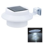Auker YJ-2001A Solar 3-LED 9lm White Lawn Lighting Lamp - White