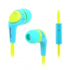 Awei Q6i Super Bass In-Ear Earphone w/ Mic - Green + Blue (3.5mm Plug)