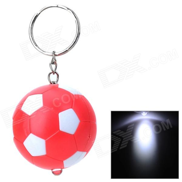PZCD PZ-15 Football Style LED Mini Flashlight Keychain - Red + White (3 x AG3 included)