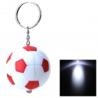 PZCD PZ-15 Football Style LED Mini Flashlight Keychain - White + Red  (3 x AG3 included)