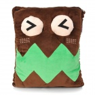 E-Warmer F2103 Cute Big Mouth Pattern USB Powered Feet Warmer Cushion - Green + Dark Brown