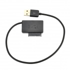 Laptop PC SATA USB External Drive Adapter Cable - Black