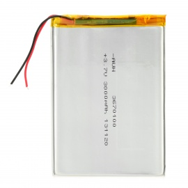 "erstatning 3.7V 3000mAh litium batteri for 7 ~ 10"" tablet PC -Silver"