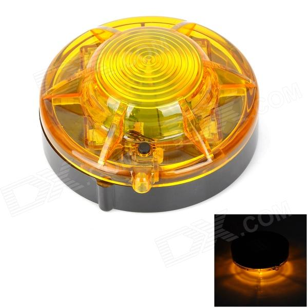 HL-880 Universal 1-LED 2-Mode Yellow Car / Bike / Motorcycle Warning Light - Black + Yellow (4 x AA)