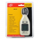 GM1351 Mini 1.3'' LCD Digital Sound Level Meter Noisemeter - White + Black