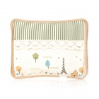 Electric Hot-water Bag / Hand Warmer - Beige + Green