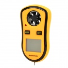 UF TOOLS GM8908 1.4'' LCD Digital Anemometer Air Anemometer w/ Strap - Black + Yellow