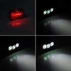 ZHISHUNJIA ZSJ-3*U2 3-LED 2200lm 4-Mode White Bicycle Headlamp w/ Tail Warning Light