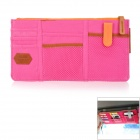 Multi-Function Car Visor Mounted Goods Placement Management Hanging Bag - Deep Pink