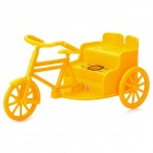 HY-S17 3-wheel Bike Style 0.8'' LCD R/C Speaker w/ USB Flash Disk / TF / FM / LED Rear Lamp - Yellow