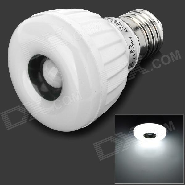 LetterFire E27 5W 70lm LED White Induction Light Bulb (85~265V) letterfire e14 5w 380lm 6000k white light cob spotlight lamp silvery grey ac 85 265v
