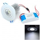 9W 750lm 6500K COB LED White Ceiling Light w/ LED Driver (AC 100~240V)