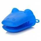 Creative Hippo Style Kitchen Heat Isolating Silicone Microwave Glove - Blue