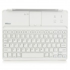 B.O.W HB015 Bluetooth V3.0 78-Key Keyboard w/ Magnetic Stripe for Ipad 2 / 3 / 4 - White