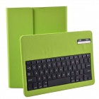 Wireless Detachable Bluetooth V3.0 64-Key Keyboard w/ PU leather Case for Ipad AIR - Green