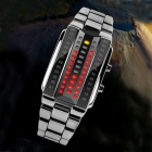 SKMEI 1013 30m Waterproof Zinc Alloy 3D Mirror Machine Core LED Digital Watch - Silver