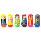 Royal Palace Cartoon Characters Pattern Watercolor Pens & Roller Stamps Set (6 PCS)