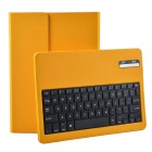 Wireless Detachable Bluetooth V3.0 64-Key Keyboard w/ PU leather Case for Ipad AIR - Yellow