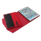 Wireless Detachable Bluetooth V3.0 64-Key Keyboard w/ PU leather Case for Ipad AIR - Red