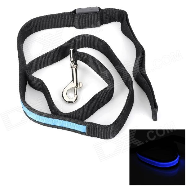 Lighting Polyester Leash for Pet Dog w/ 1-LED Blue Light - Blue + Black