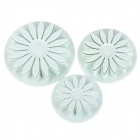 Plastic Sunflower Shaped Decorative Cake / Bread / Cookie Fondant Mold Set - White