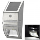 Outdoor Wall Mounted Solar Motion Sensor LED White Lamp - Silver