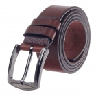 Rich Age Lichee Pattern Men's Cow Split Leather Belt w / Zinc Alloy Pin buckle - Brown