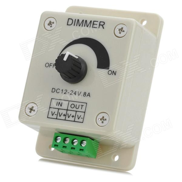 12~24V 8A 1W PWM Single Color Manual Dimmer for LED Light Strip - Beige