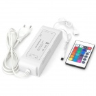 AC to DC Power Supply Adapter + 24-Key Infrared Wireless Remote Controller for LED Strip - White