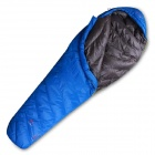 Highrock N232011 Mummy Style Camping Nylon + Polyester + Duck Down Sleeping Bag - Deep Blue