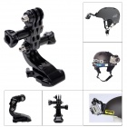 Fat Cat M-H3 Adjustable Helmet Mount for GoPro Hero3+ / Hero3 / Hero2 / Hero / SJ4000 - Black