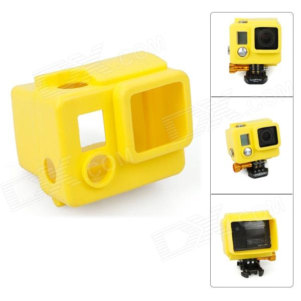 Fat Cat C-CS33+ High Quality Silicone Protective Case for Gopro Hero3+ / Hero3 Plus - Yellow