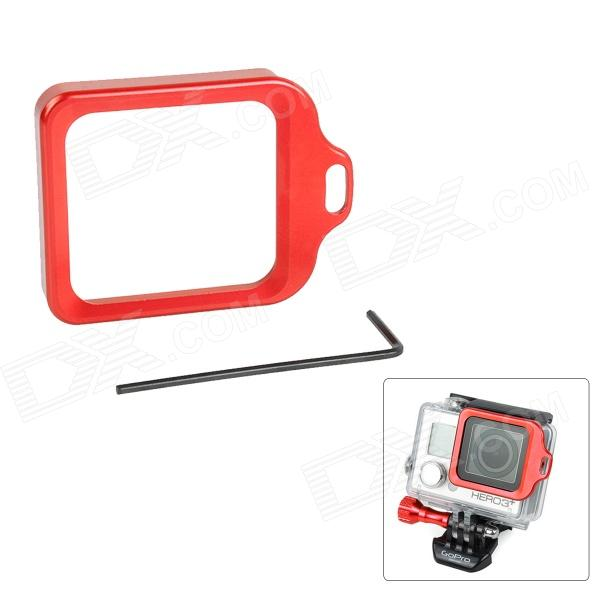 High Precision CNC Aluminum Alloy Lens Strap Ring for GoPro Hero 3+ - Red hr113 gn high precision cnc aluminum alloy lens strap ring for gopro hero 3 green