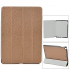 Stylish Protective PU Leather Case for Ipad AIR - Brown + Black