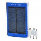 "Portable Dual-USB Solar ""30000mAh"" Power Bank for Iphone / Ipad / Samsung / HTC - Blue + White"