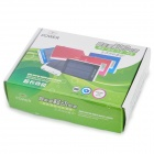 "Portable USB Dual-solaire ""30000mAh"" Power Bank pour Iphone / Ipad / Samsung / HTC - Bleu + Blanc"