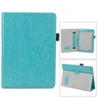 Protective PU Leather Case w/ Hand Strap Holder for Ipad AIR - Lake Green